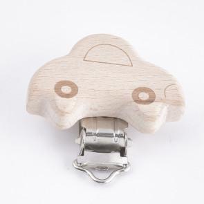 osnova za obesek - za dudo, les, motiv avto, velikost 38x41, 1 kos