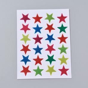 samolepilne nalepke, motiv zvezde, barva mix, 2x2 cm, 1 pola (24 nalepk)