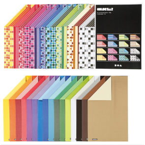 barvni papir z vzorci 250 g, 210x297 mm (A4), mix, 1 kos