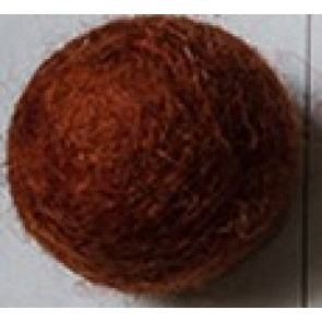 filc kroglice 1 cm, bakreno rjava, 1 kos