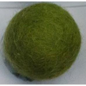 filc kroglice 1 cm, temno olivno zelene, 1 kos