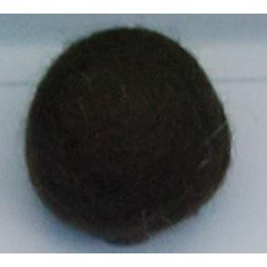 filc kroglice 1 cm, temno rjave, 1 kos