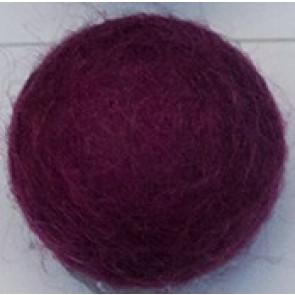 filc kroglice 2 cm, roza vijola, 1 kos