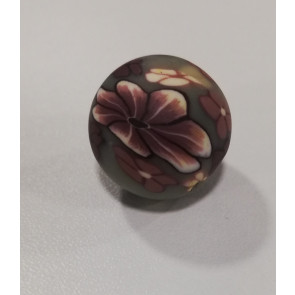 fimo perle 18 mm, sive, 5 kos