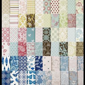 Design papir 120 g, 15,2x15,2 cm, mix, 1 kos