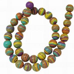 perle - sint. kamen, 4 mm, pisane, 1 niz - cca 100 kos