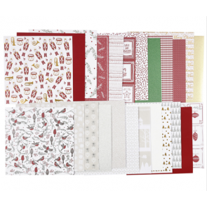 Design papir 120+128 g, 30,5x30,5 cm, mix, 1 kos