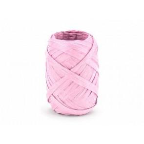 trak rafija - roza b., širina: 5 mm, dolžina: 10 m, 1 kos