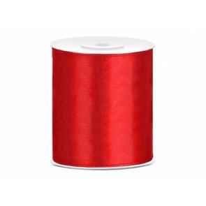 satenast trak rdeč, širina: 100 mm, dolžina: 25 m