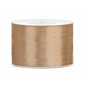 satenast trak nežno zlati, širina: 50 mm, dolžina: 25 m