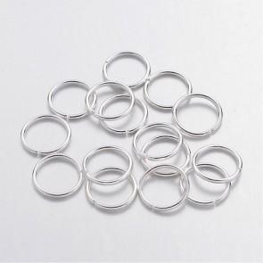zaključni obroček 10 mm, srebrne b., 50 g (cca 330 kos)