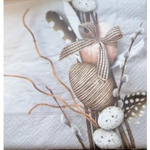 papirnate serviete 33x33 cm, 3-slojne, pirhi, 1 kos