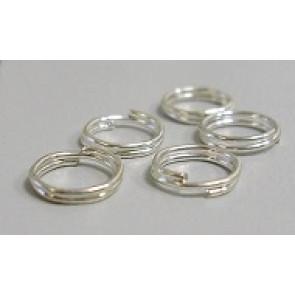 zaključni obroček dvojni 10 mm, srebrne b., 50 g
