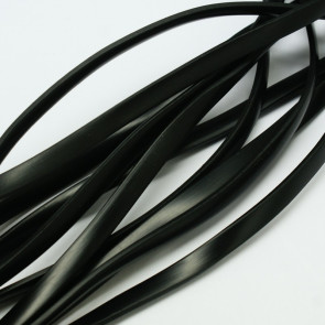 kavčuk osnova (gumi) 6x2 mm - ploščata, črne b., dolžina: 1 m