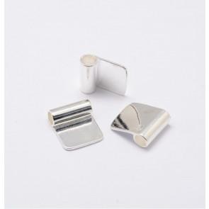 nastavek za obesek 18x15.5 mm mm, luknja 4.5 mm srebrne b., 1 kos