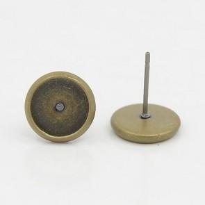osnova za uhane 10x0,5 mm, antik, brez niklja, velikost kapljice: 8 mm, 1 kos