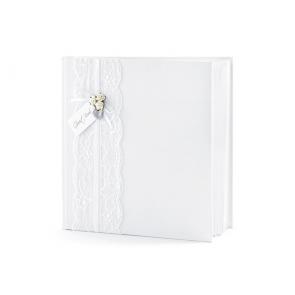 knjiga gostov/album, bela, 20,5x20,5 cm, 1 kos