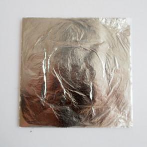 metalni lističi 14x14 cm, srebrne barve, 1 kos