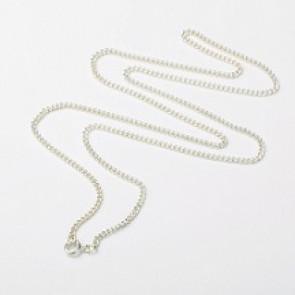 kovinska osnova za ogrlico 60 cm, srebrne b., 1 kos