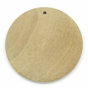 leseni obesek 40 mm, naraven, 1 kos