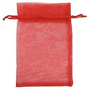 organza vrečke 14x17 cm, sv. rdeče, 1 kos