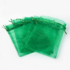 organza vrečke 13x18 cm, zelena, 1 kos