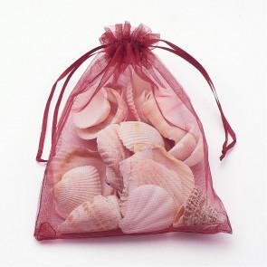 organza vrečke 13x18 cm, temno rdeče, 1 kos