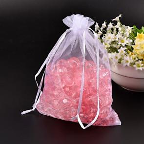 organza vrečke 17x23 cm, bele, 1 kos
