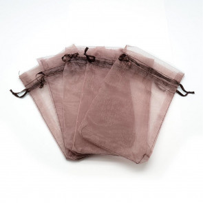 organza vrečke 7x9 cm, RosyBrown, 1 kos