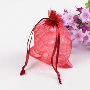 organza vrečke 7x9 cm, temno rdeče, 1 kos