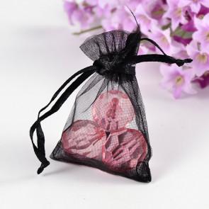 organza vrečke 5x7 cm, črne, 1 kos