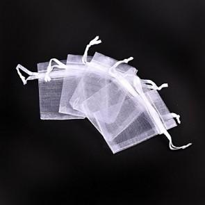 organza vrečke 5x7 cm, bele, 1 kos