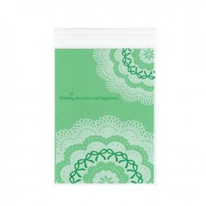 vrečka iz celofana 22.8x14.9cm (notranja mera: 20x14.9cm), prozorna - zelena, 10 kos