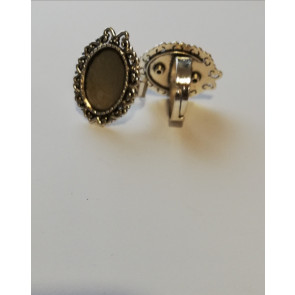 nastavek za prstan 17mm/18x13 mm, b. starega srebra, 1 kos