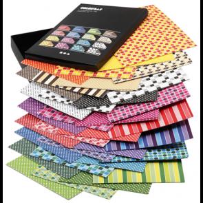 barvni papir z vzorci 100 g, 210x297 mm (A4), mix, 1 kos