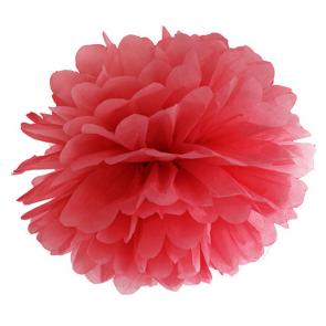 pompom krogla, rdeča, 35 cm, 1 kos