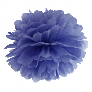 pom pom krogla, mornarsko modra, 35 cm, 1 kos