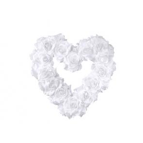 okrasni srček, bela, 40 cm, 1 kos