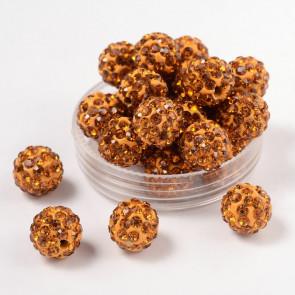 fimo perle s kristali Topaz, 10 mm, velikost luknje: 1.5 mm, 1 kos