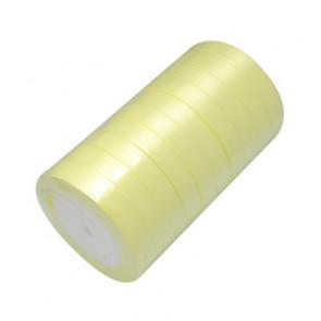 satenast trak svetlo rumen, širina: 20 mm, dolžina: 22 m