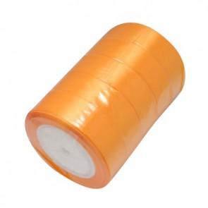 satenast trak sv. oranžne barve, širina: 25 mm, dolžina: 22 m