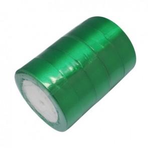 satenast trak zelen, širina: 25 mm, dolžina: 22 m
