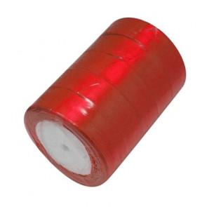 satenast trak rdeč, širina: 25 mm, dolžina: 22 m