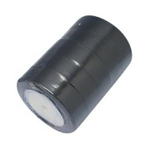 satenast trak črn, širina: 25 mm, dolžina: 22 m