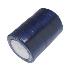 satenast trak Midnight Blue, širina: 25 mm, dolžina: 22 m