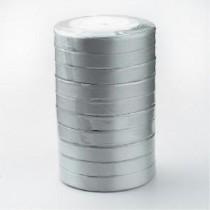 satenast trak sive barve, širina: 12 mm, dolžina: 22 m