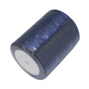 satenast trak Midnight Blue, širina: 6 mm, dolžina: 22 m