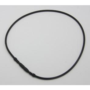 osnova za ogrlico - gumi (kavčuk), 44 cm, črne b., debelina: 3 mm, 1 kos