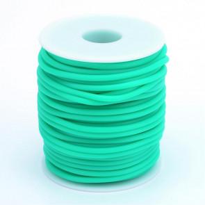 kavčuk osnova (gumi), debelina: 3 mm, turkizne b., velikost luknje: 1,5 mm, 1 m