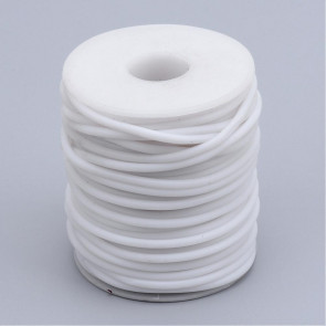 kavčuk osnova (gumi), debelina: 3 mm, bele b., velikost luknje: 1,5 mm, 1 m